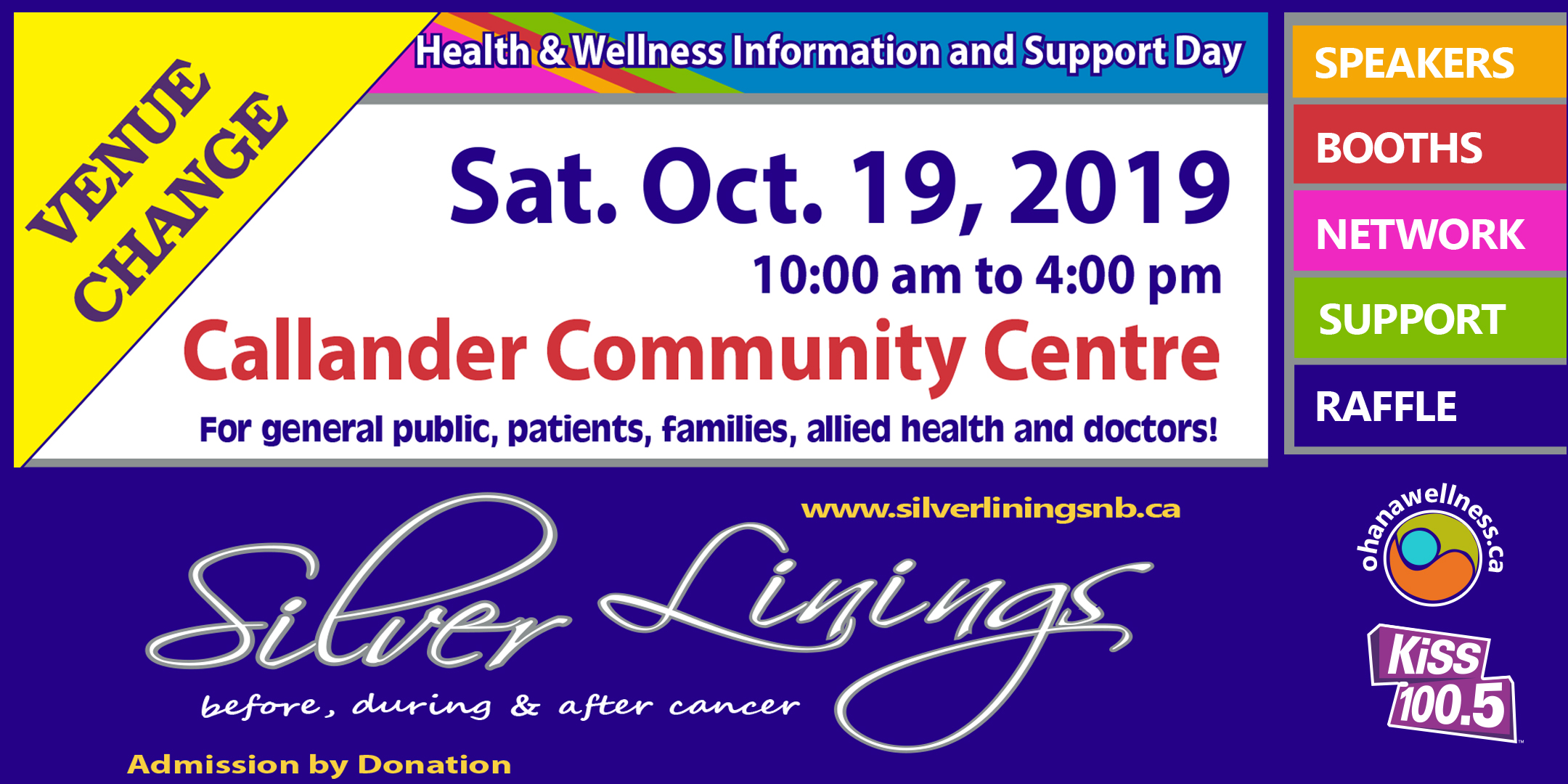 Silver Linings - before, during & after cancer. A Health & Wellness Information and Support Day