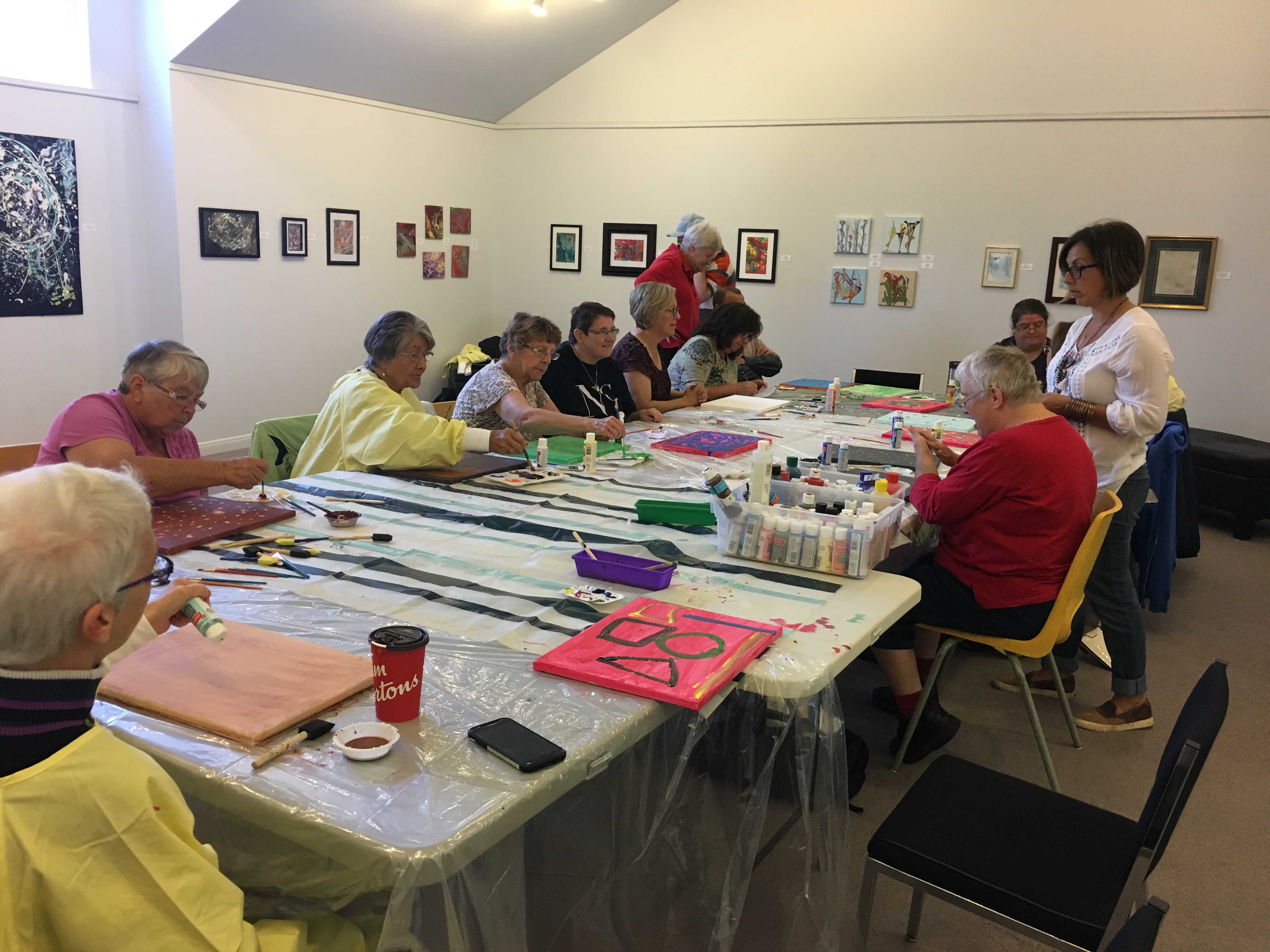 Art Classes with Community Living North Bay