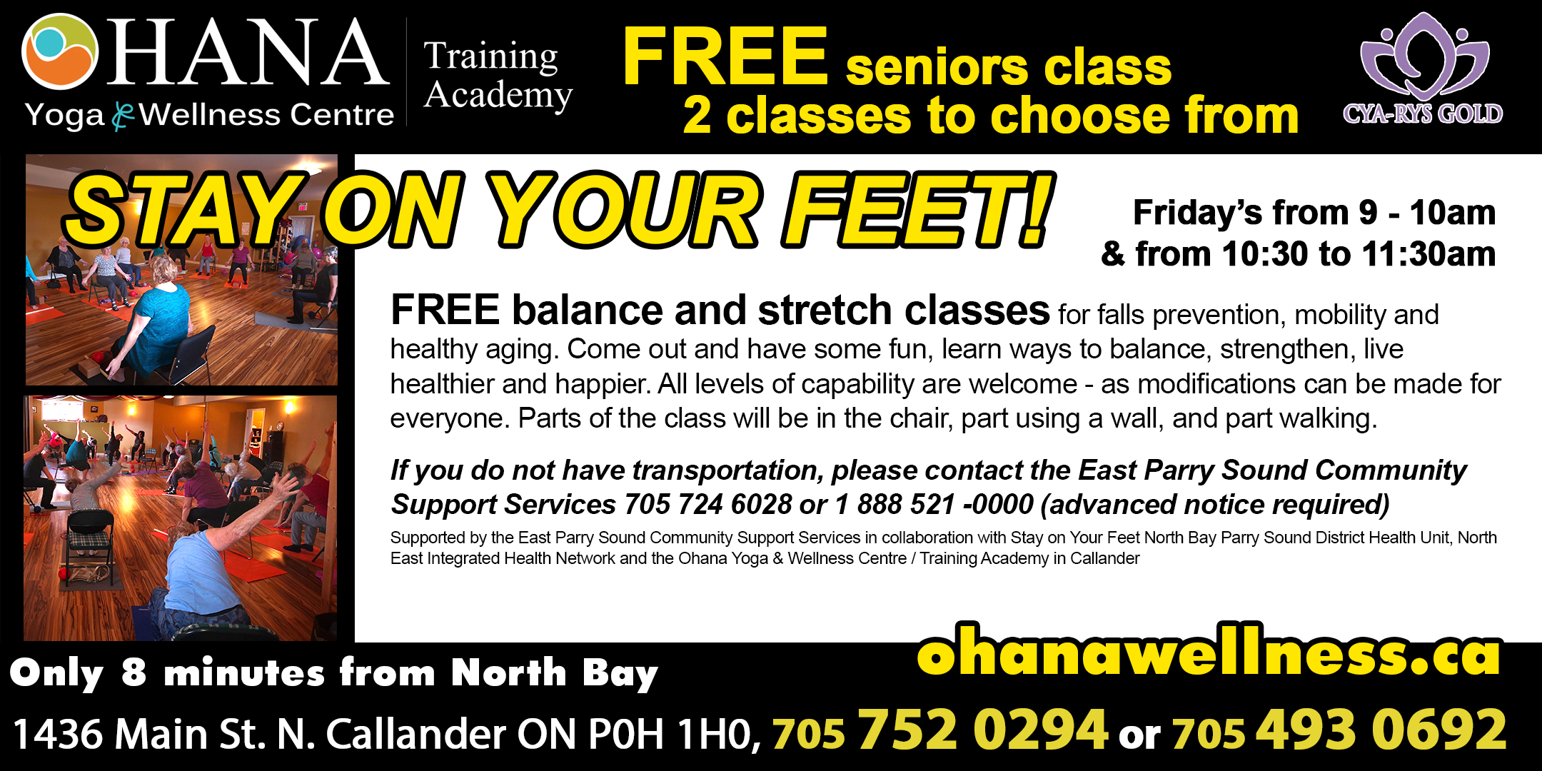 Ohana's Stay of Your Feet - Balance, Stretch, & have some fun program!